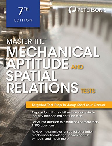 Master The Mechanical Aptitude and Spatial Relations: Peterson's