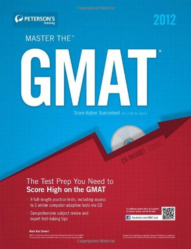 9780768931433: Peterson's Master the GMAT 2012