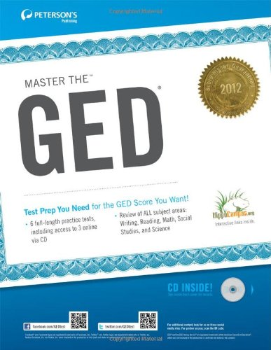 9780768932928: Master the GED 2012 (w/CD) (Peterson's Master the GED (W/CD))
