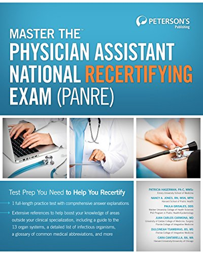 9780768936162: Master the Physician Assistant National Recertifying Exam (PANRE) (Peterson's Master the Physician Assistant National Recertitying Exam)