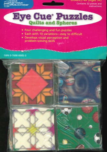 9780769000053: 21864 EYE CUE PUZZLES: QUILTS AND SPHERES, GRADES 4 THROUGH 8