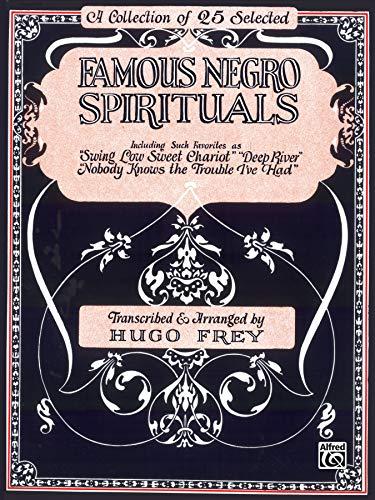 9780769215327: Famous Negro Spirituals: Piano/Vocal/Chords