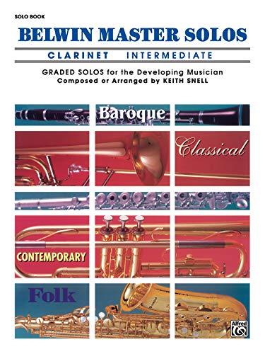 9780769220925: Belwin Master Solos (Clarinet), Vol 1: Intermediate