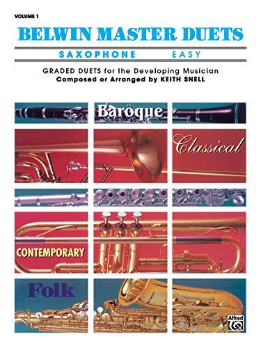 9780769221335: Belwin Master Duets (Saxophone), Vol 1: Easy