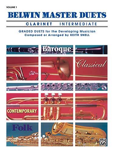 9780769221342: Belwin Master Duets: Clarinet Intermediate Vol. 1