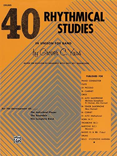 9780769221489: 40 Rhythmical Studies: Drums