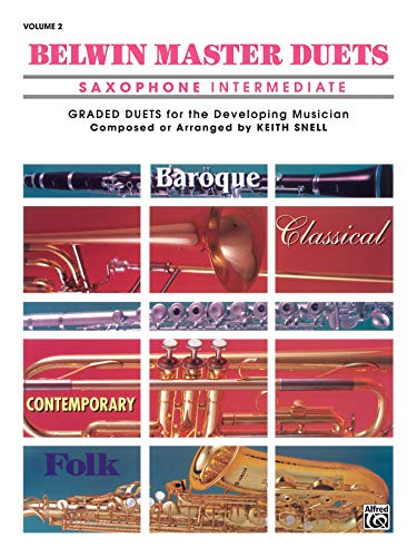 9780769226750: Belwin Master Duets (Saxophone), Vol 2: Intermediate