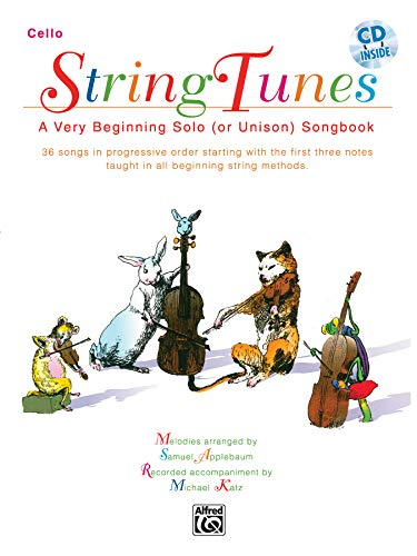 9780769230016: Stringtunes - A Very Beginning Solo (or Unison) Songbook: Cello, Book & CD