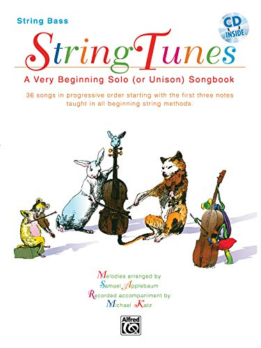 9780769230023: Stringtunes - A Very Beginning Solo (or Unison) Songbook: Bass, Book & CD