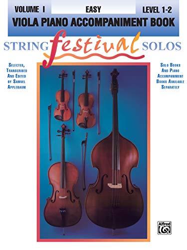 9780769230610: String Festival Solos, Vol 1: Viola Piano Acc.