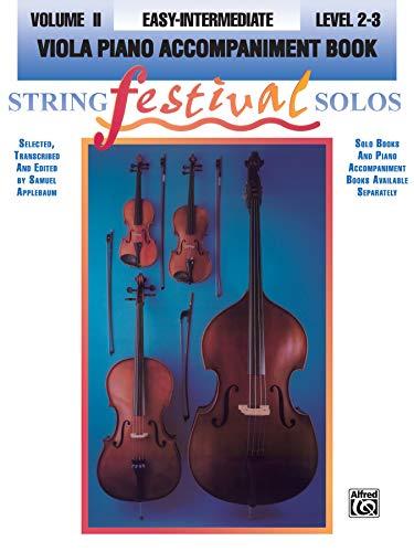 9780769230696: String Festival Solos, Vol 2: Viola Piano Acc.