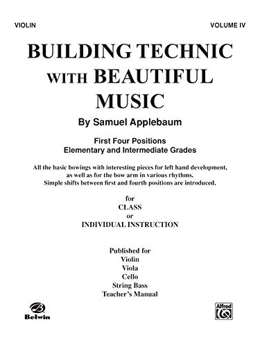 9780769231969: Building Technic With Beautiful Music, Bk 4: Violin