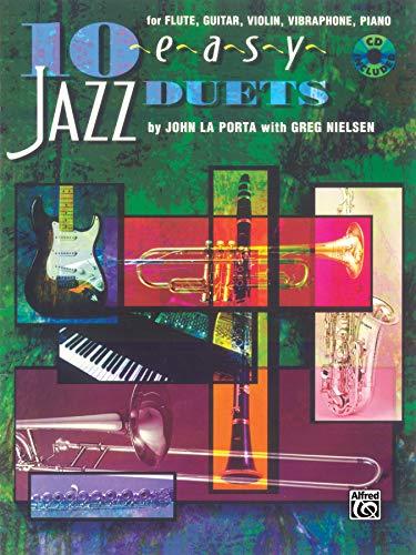 9780769233338: 10 Easy Jazz Duets: C (Flute, Guitar, Violin, Vibraharp, Piano), Book & CD
