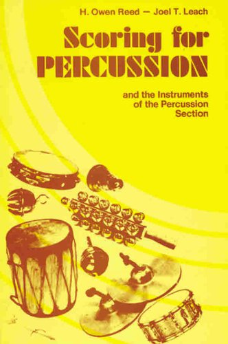 9780769234908: Scoring for Percussion