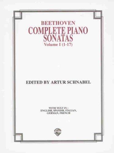 9780769239514: Complete Piano Sonatas (1-17), Vol 1 (Belwin Edition)