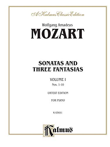 9780769240671: Sonatas and Three Fantasias, Vol 1: Nos.1-10 (Kalmus Edition)