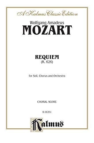 9780769243733: Requiem K. 626: For Soli, Chorus and Orchestra (Latin Edition)
