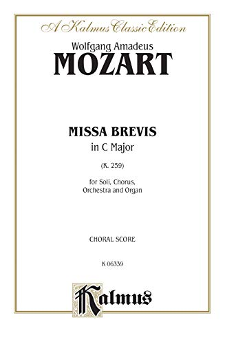 Missa Brevis in C Major, K. 259: