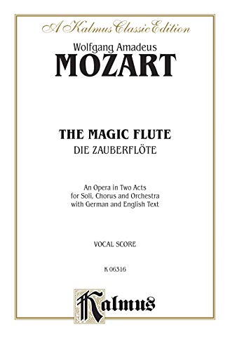 9780769245942: The Magic Flute: Vocal Score (German, English Language Edition), Comb Bound Vocal Score (Kalmus Edition) (German Edition)