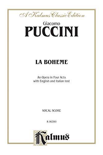 La Boheme: Vocal Score (Italian, English Language