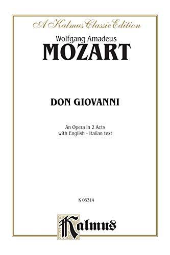 9780769246222: Don Giovanni: Vocal Score (Italian, English Language Edition), Vocal Score (Kalmus Edition)