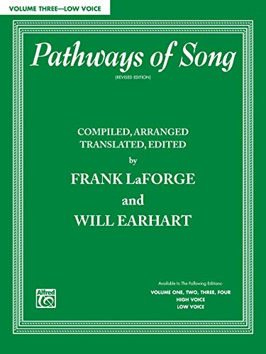 9780769246772: Pathways of Song, Vol 3: Low Voice (Pathways of Song Series)