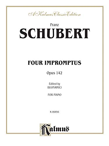 9780769249803: Four Impromptus, Op. 142 (Kalmus Edition)