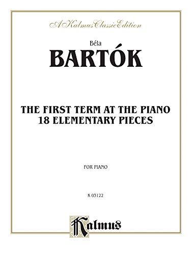 9780769249919: Bartok First Term at the Piano