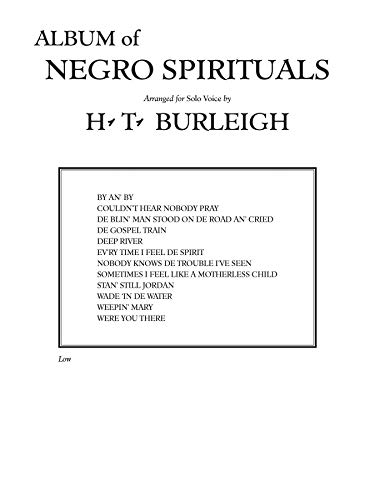 9780769250212: Album of Negro Spirituals: Low Voice