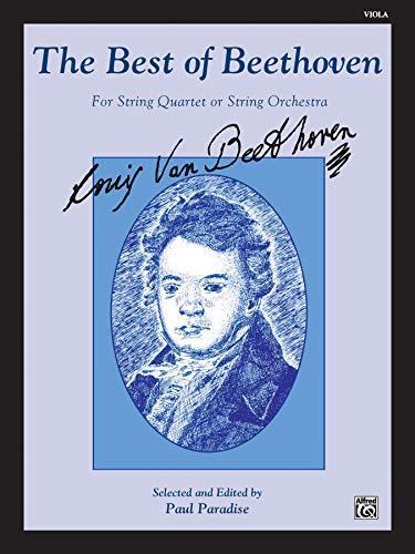 9780769252223: The Best of Beethoven (For String Quartet or String Orchestra): Viola