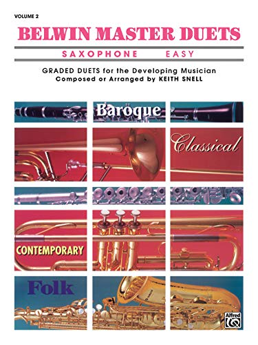 9780769254944: Belwin Master Duets (Saxophone), Vol 2: Easy