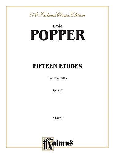 9780769257976: David Popper: Fifteen tudes for Cello Op.76 (Kalmus Edition)