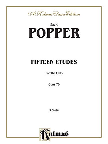9780769257976: Fifteen Etudes for Cello, Op. 76 (Kalmus Edition)