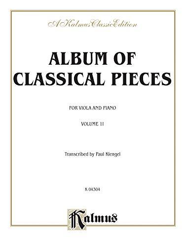 Album of Classical Pieces, Volume II Format: Transcr. Julius Klengel