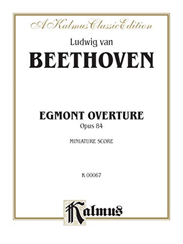 Egmont Overture, Op. 84: Miniature Score (Paperback)