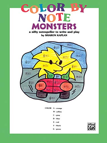 9780769261164: Color by Note Monsters: A Nifty Notespeller to Write and Play, Coloring Book