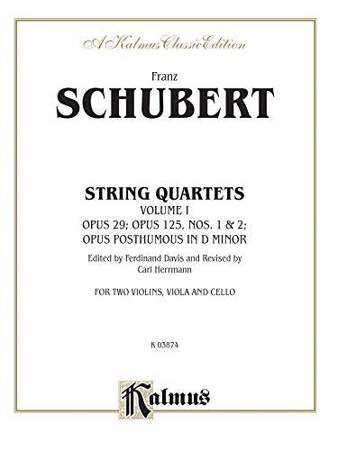 9780769261775: String Quartets, Vol 1: Op. 29; Op. 125, Nos. 1 & 2; Op. Posth. in D Minor (Kalmus Edition)
