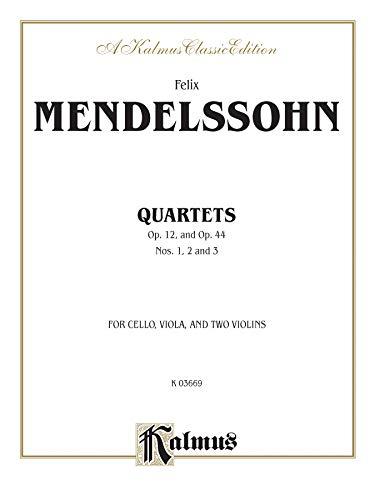 String Quartets, Op. 12; Op. 44, Nos. 1, 2 & 3 (Kalmus Edition): Alfred Music