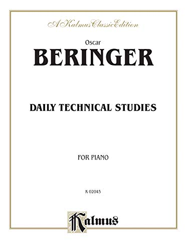 9780769264141: Daily Technical Studies for Piano (Kalmus Edition)