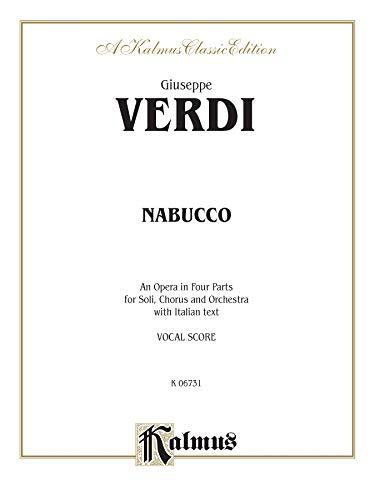 9780769264806: Nabucco: Vocal Score (Italian Language Edition) (Kalmus Edition)