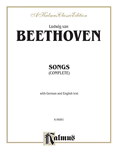 9780769264868: Songs (Complete): 66 Songs, mostly for Medium Voice (German, English Language Edition), Octavo-Size Book (Kalmus Edition) (German Edition)