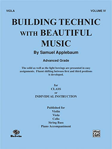 9780769266541: Building Technic With Beautiful Music, Bk 4: Viola