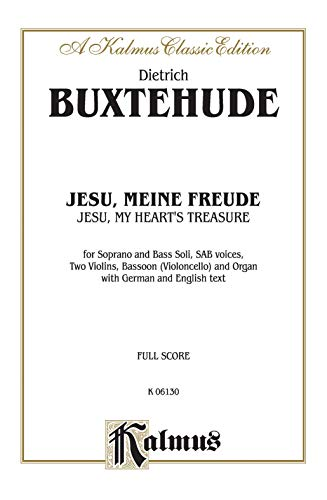 Jesu, My Heart's Treasure (Jesu, meine Freude): SSB with SSB Soli (German, Latin Language ...