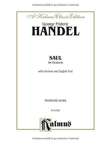 9780769268699: Saul (1739): SATB with SSATTTTTBBB Soli (German, English Language Edition), Miniature Score (Kalmus Edition) (German Edition)
