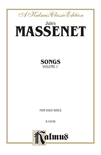 9780769269061: Songs, Vol 1: High Voice (French Language Edition) (Kalmus Edition) (French Edition)