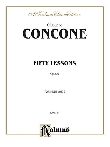 9780769269238: Fifty Lessons, Op. 9: High Voice (Kalmus Edition)