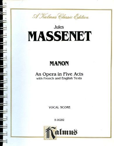 9780769269672: Manon: Vocal Score (Kalmus Edition)