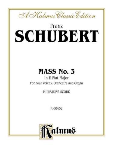 9780769269764: Mass in B-Flat Major: Latin Language Edition, Miniature Score (Kalmus Edition)