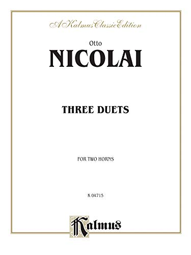 9780769272962: Three Duets (Kalmus Edition)