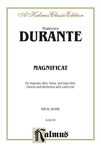9780769274638: Magnificat: Vocal Score for Soprano, Alto, Tenor and Bass Soli, Chorus and Orchestra with Latin Text